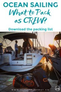 what to bring for an ocean sailing trip offshore passage
