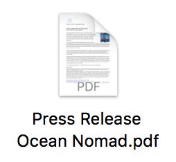 Ocean Nomad Press Release