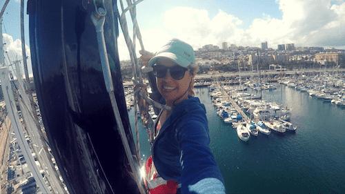 sailing across the Atlantic Ocean as crew